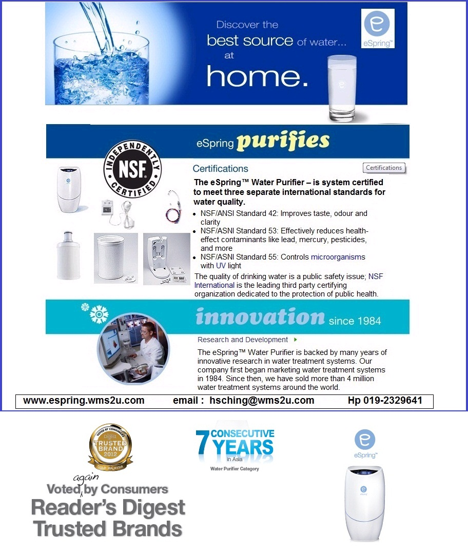 Espring Water | Water purification tips and filtration devices